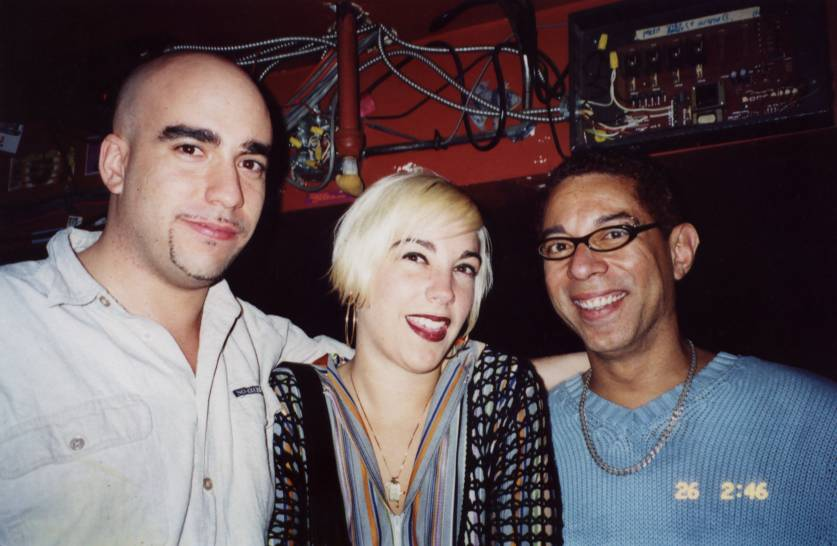 DJ Andy Roberts (left), DJ Nicole, and Albert Assoon. Photo courtesy of Pat Boogie.