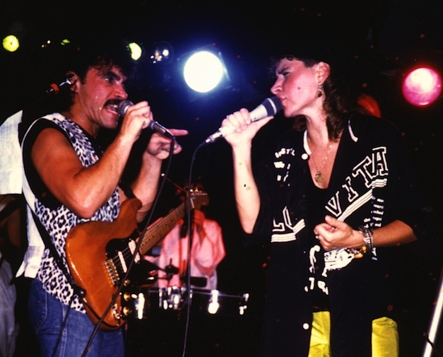 John Oates (left) with Lorraine Segato onstage at the BamBoo. Photo courtesy of Segato.
