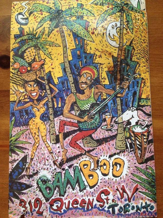 BamBoo menu cover. Image courtesy of Patti Habib.