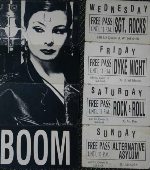 Boom Boom Room promo courtesy of Tim Barraball.