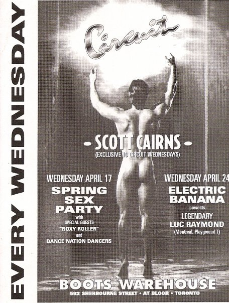 Poster for Circuit Wednesdays, courtesy of Scott Cairns.