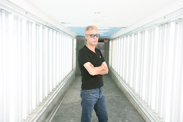 Peter Gatien at CiRCA, still under construction, in May 2006. Photo: Charla Jones/Toronto Star.