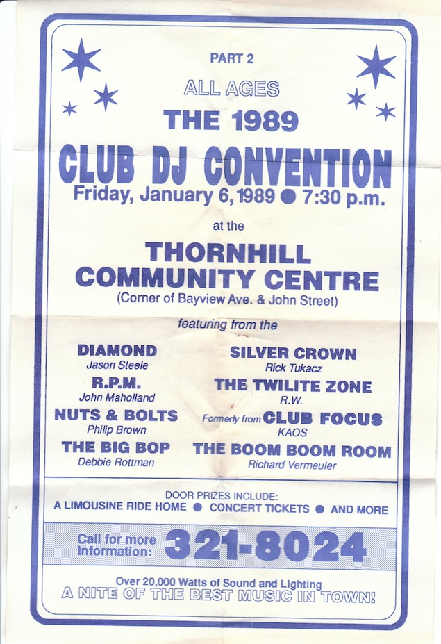 Flyer for a 1989 all-ages event, which included the original Focus resident DJ crew KAOS. Courtesy of Hal Wong.