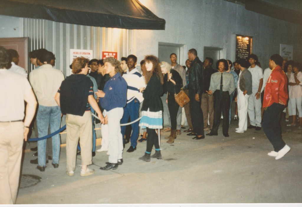 The line at the front door of The Copa. Photo by Julie Levene, courtesy of Barry Harris.