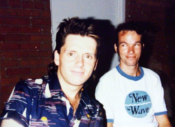 Lighting man Danny Regan (left) with DJ Dave Allen at Voodoo. Photo courtesy of Roy Paul.