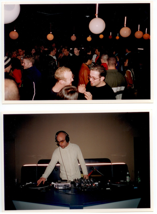 Opening night at Element Bar. Crowd (above), DJ Andy Roberts (below). Photos courtesy of Tony Mutch.