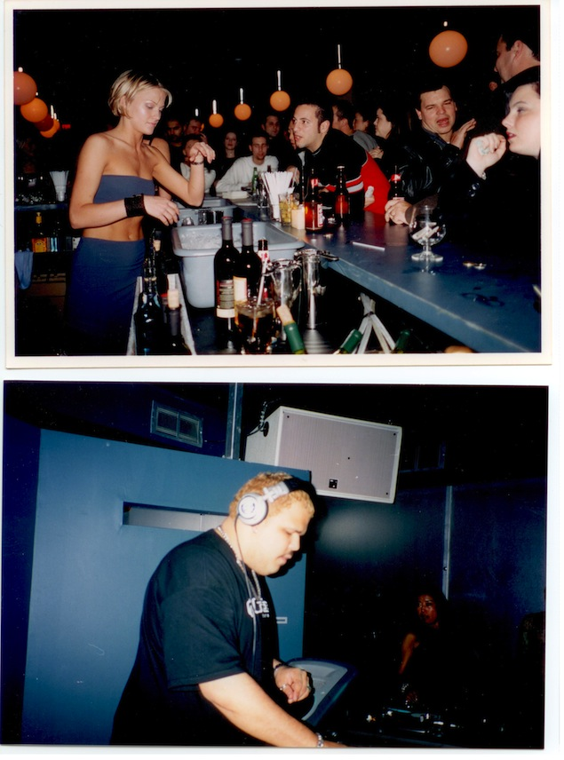 Opening night at Element Bar. Bartender Alison Stevens (above), DJ Sneak (below). Photos courtesy of Tony Mutch.