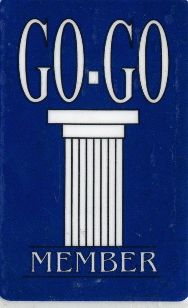 Go-Go Member card. Courtesy of Jeremy Markoe.