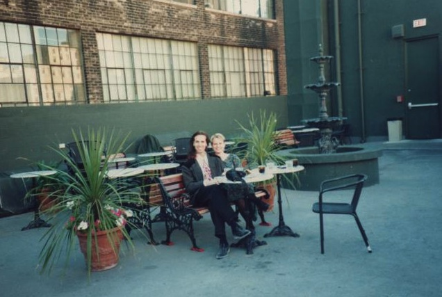 Go-Go manager Steve McMinn with Kim Ackroyd Oka on the rooftop patio. Photo courtesy of Ackroyd Oka.