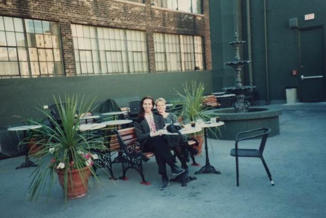 Go-Go manager Steve McMinn with Kim Ackroyd Oka on the rooftop patio. Photo courtesy ofAckroyd Oka.