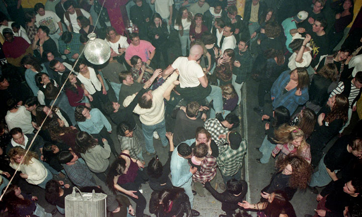 Klub Max dancefloor, 1994.