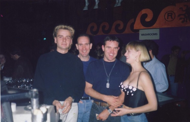 Staff at the Round Bar, including Gilles Belanger (second-from-right), circa 1988. Photo courtesy of Mike Borg.