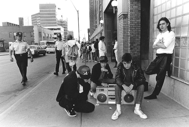 Chris Sheppard hangs with the Beastie Boys outside Maple Leaf Gardens. Photo courtesy of Sheppard.
