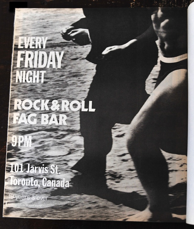Rock & Roll Fag Bar flyer courtesy of Malcolm Brown