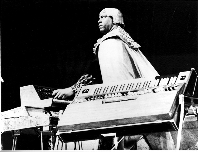 Sun Ra at The Edge. Photo courtesy of Gary Topp.