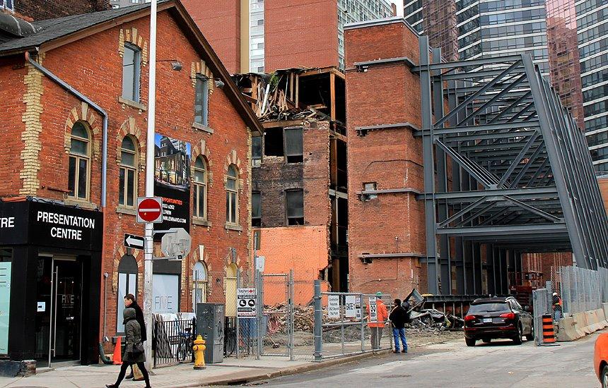 5 St. Joseph in November 2011, during construction.