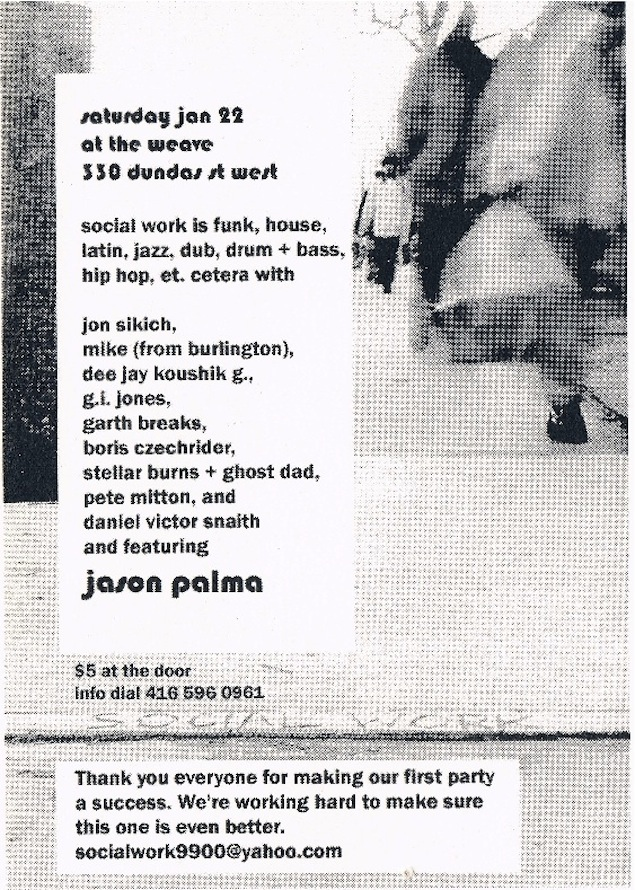 Early Social Work flyer (back). Courtesy of Dan Snaith.