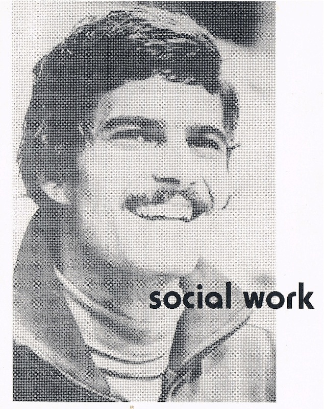 Early Social Work flyer (front). Courtesy of Dan Snaith.