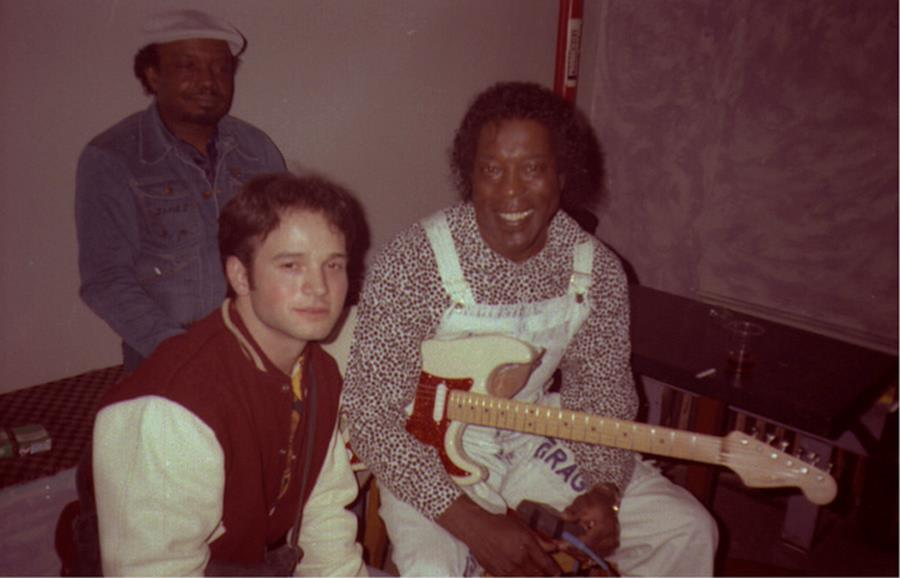 Sean D'Andrade with Buddy Guy (right) at the El Mo, circa 1992. Photo courtesy of D'Andrade.