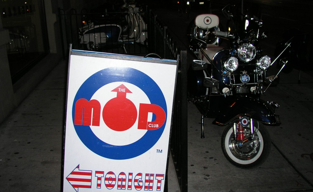 The original Mod Club sign, outside Lava Lounge. Photo courtesy of Mark Holmes.