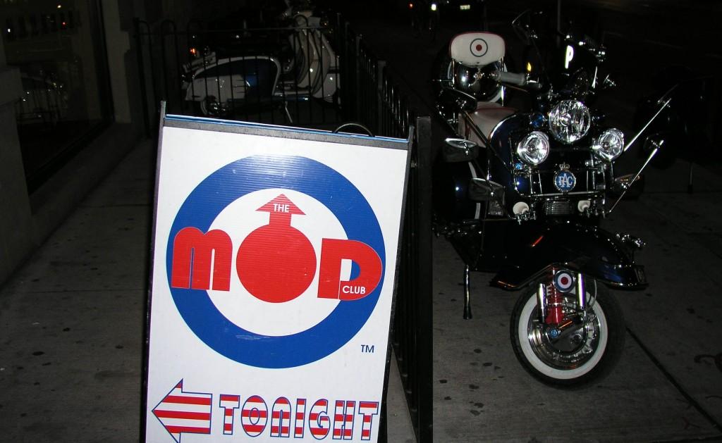 The original Mod Club sign, outside Lava Lounge. Photo courtesy of Mark Holmes.