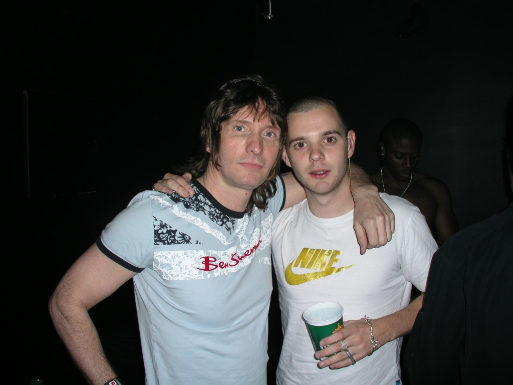 Mark Holmes with Mike Skinner a.k.a. The Streets. Photo by Trevor Roberts.