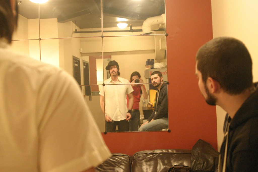 MSTRKRFT backstage at the Mod Club Theatre. Photo by Trevor Roberts.