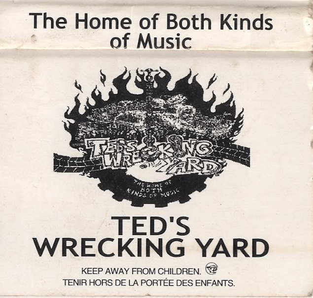 Ted's Wrecking Yard matchbook cover. Courtesy of Ted Footman.