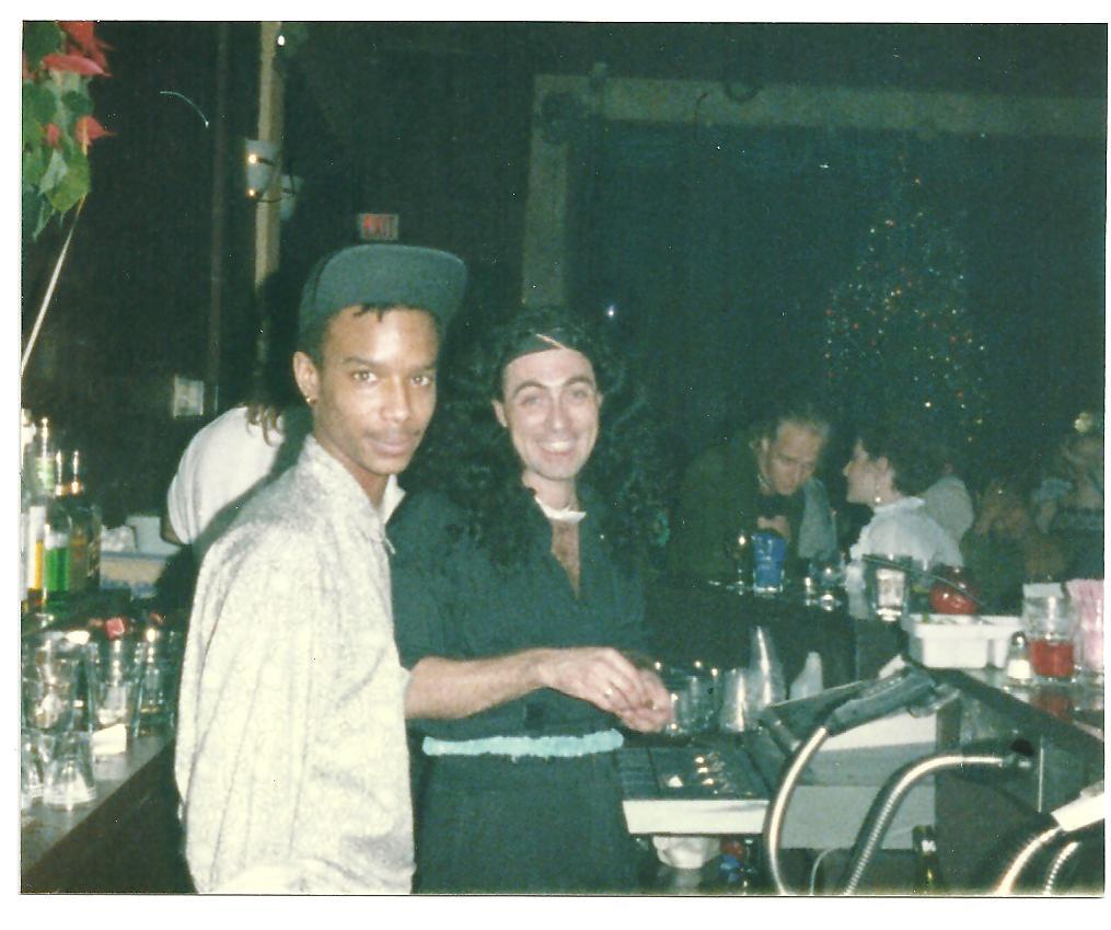 Go-Go bar staff Ian Bullen and Drew Rowsome. Photo courtesy of Cristy-Jane Byrom.