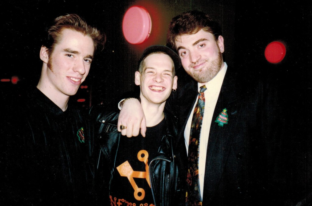 Steve Ireson (left) and Boris Khaimovich (right) with busboy David Baker. Photo courtesy of Cheryl Butson.