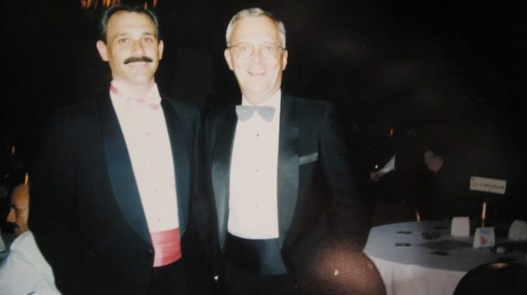 Boots' DJ Alberto Zara (left) with owner Rick Stenhouse. Photo courtesy of Zara.