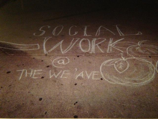 Social Work chalk