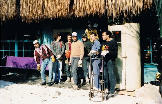 At work on what would become the BamBoo. Photo courtesy of Patti Habib.