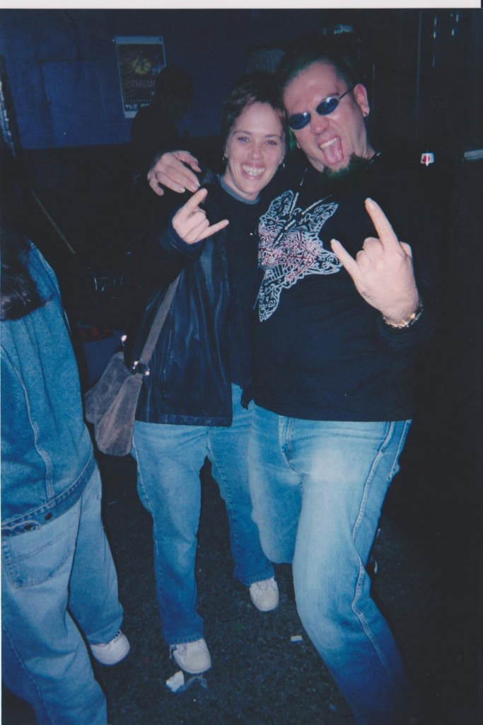 Talent bookers / promoters Andrea Caldwell and Noel Peters at the club in 2002. Photo courtesy of Peters.