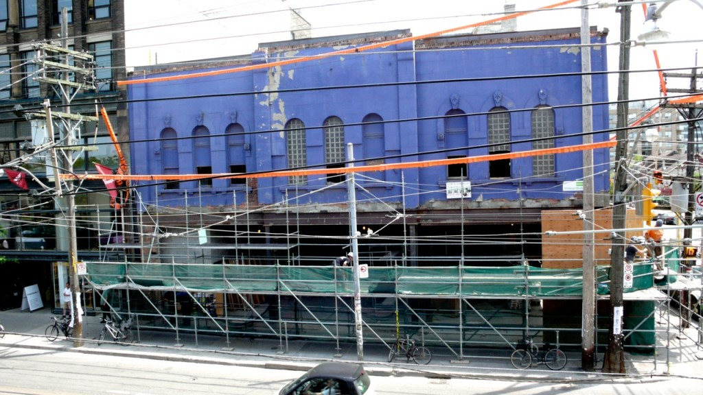 Early in the building's restoration process. Photo by Ira S. Cohen.