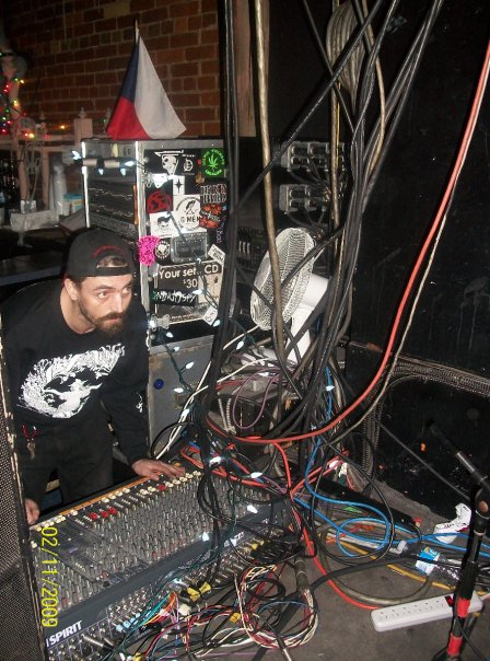 Jake Disman, sound tech, in Kathedral. Photo courtesy of Scoot DeVille.