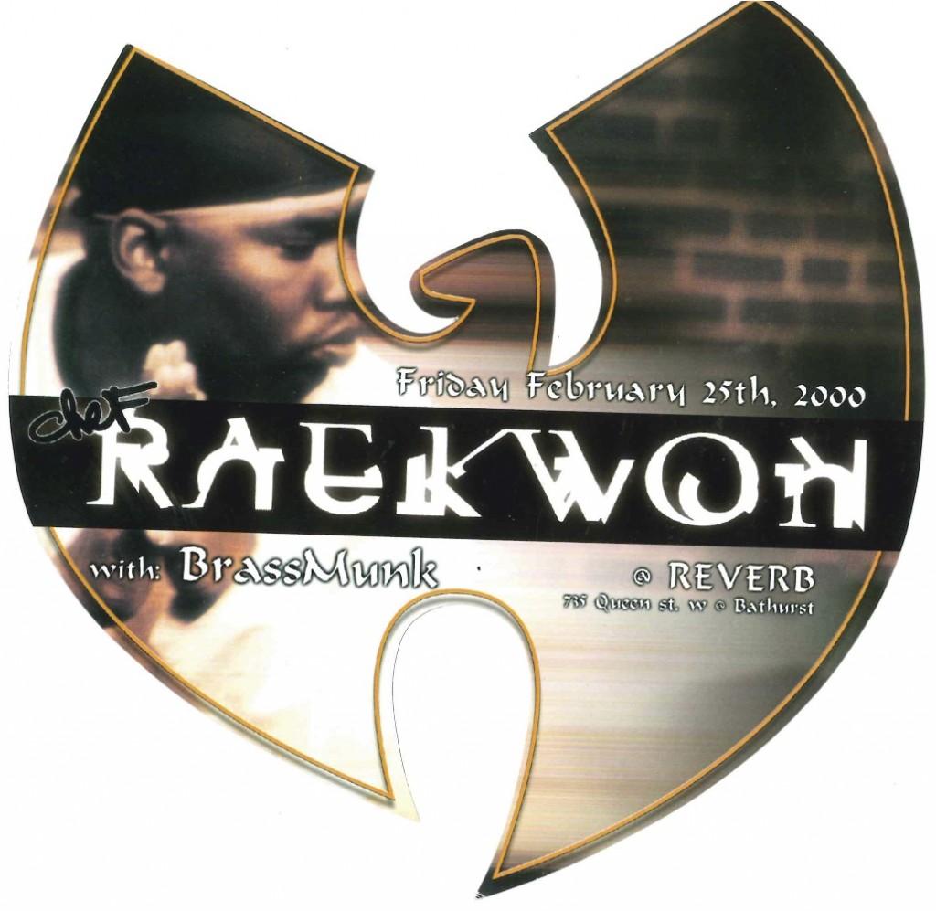 REMG flyer for Raekwon at Reverb, 2000. Courtesy of Jonathan Ramos.