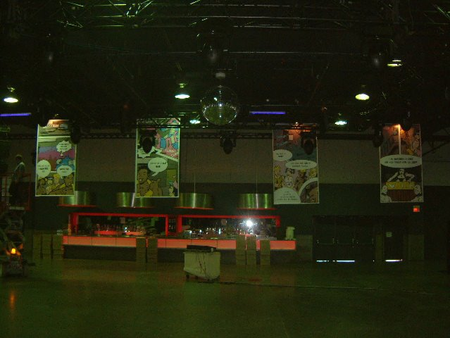 Comic installation from Guvernment 7-year. Photo courtesy of Chris Schroer.