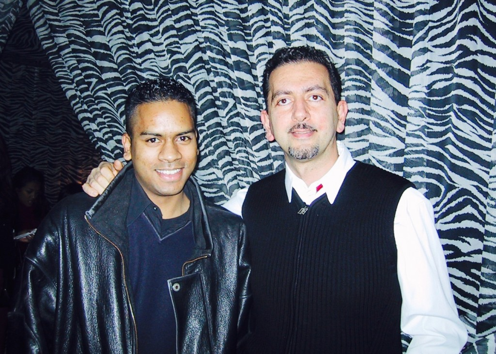 DJ Clymaxxx with Charles Khabouth in 1999. Photo courtesy of DJ Clymaxxx.