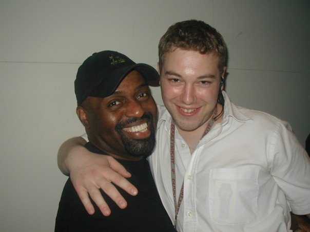 Former Guv Creative Manager Chris Schroer (right) with Frankie Knuckles. Photo courtesy of Schroer.
