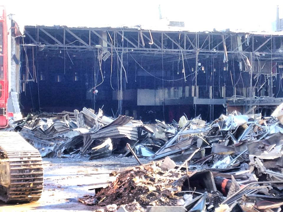 Demolition of the Guvernment complex, February 2015. Photo by Alex 'Billy' Korittko.