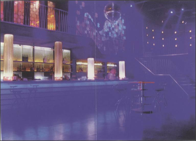 Guvernment main room interior in 1996, from a Boost & Titan Productions promo flyer.