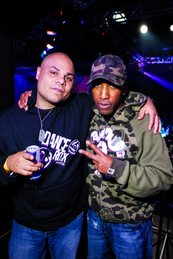 Marcus Visionary (left) with ShyFX at Theory. Photo by Tobias Wang of VisualBass Photography.
