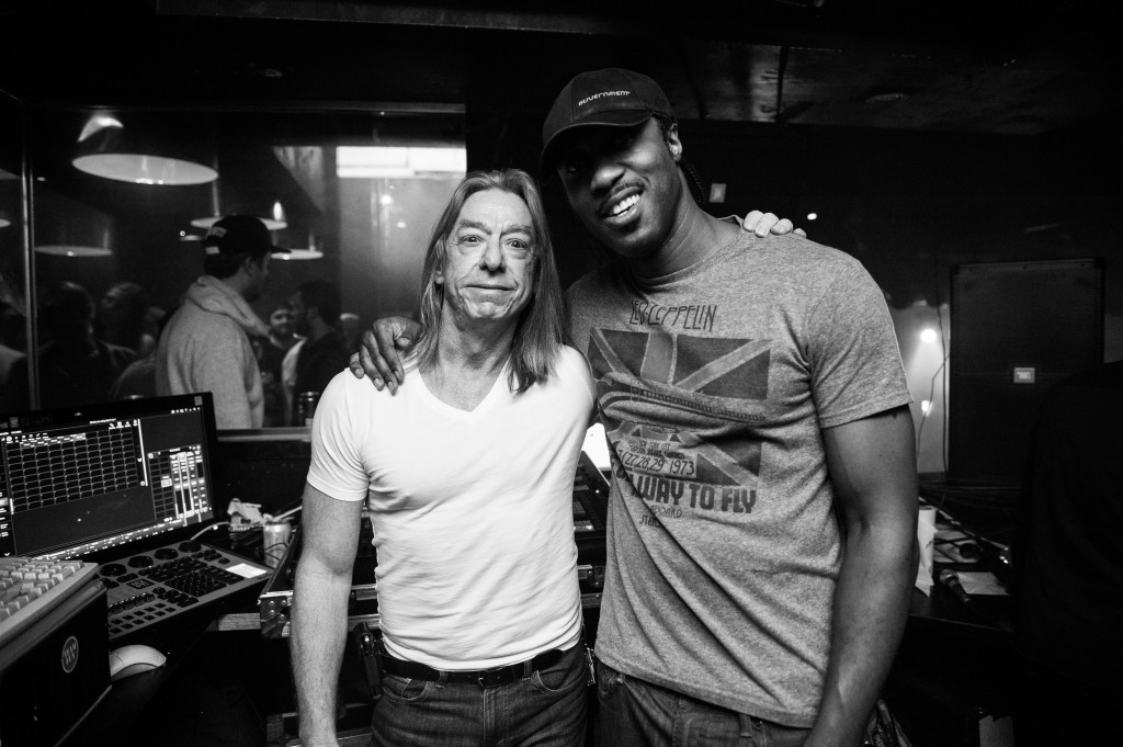 Guvernment Technical Director Tom Doyle (left) with DJ Aristotle. Photo by Tobias Wang of VisualBass Photography.