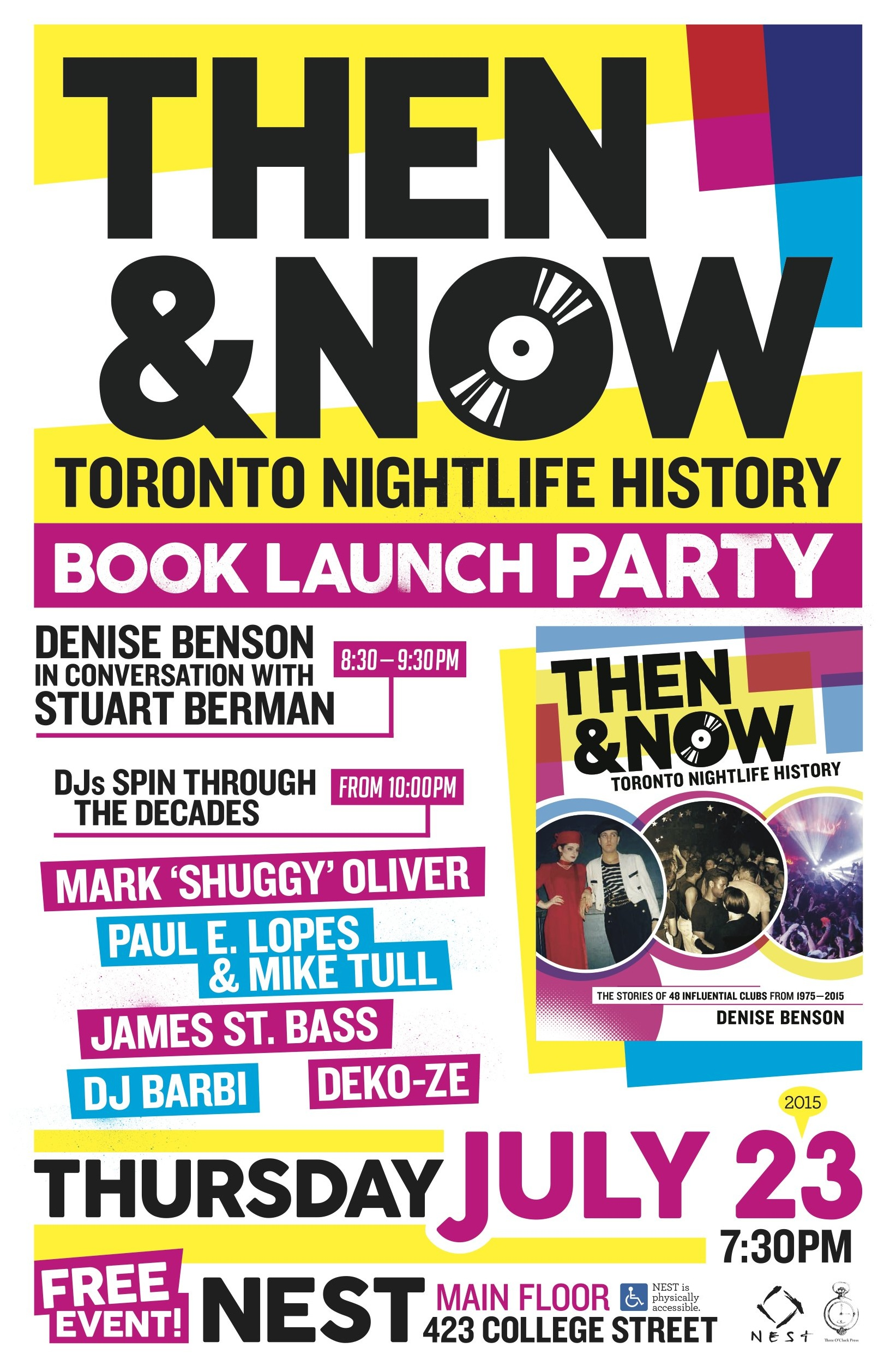 90s poster design - Then Now Launch Party Poster Design By Noel Dix