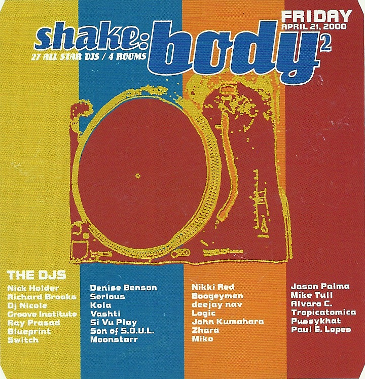 Lineup for Shake:Body 2, presented by 52inc. Flyer courtesy of Kate Cassidy.